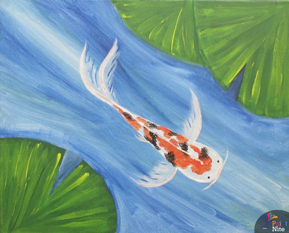 April 11 2015 roanoke city market building paint nite event for Koi pond quezon city