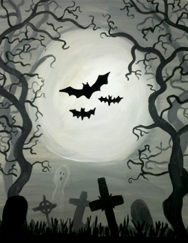 bo beau roof tap 10302017 paint nite event - Halloween Pictures To Paint