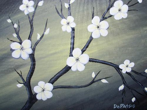 White poppies at getaway cafe 01192015 paint nite event mightylinksfo