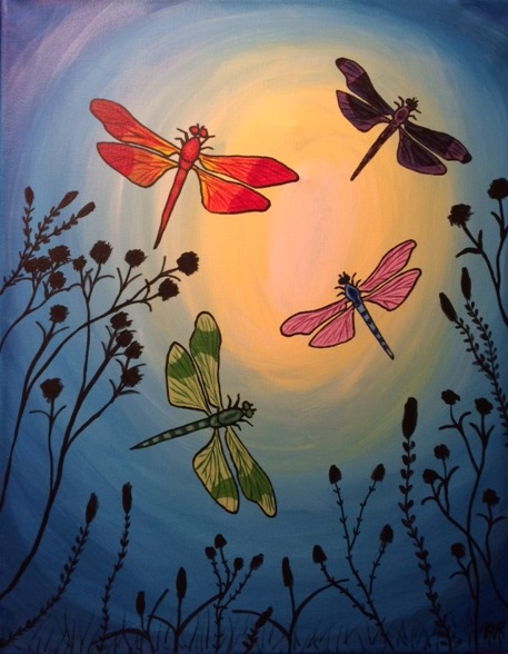 Cancun 8 04 paint nite event for Wine and paint st louis