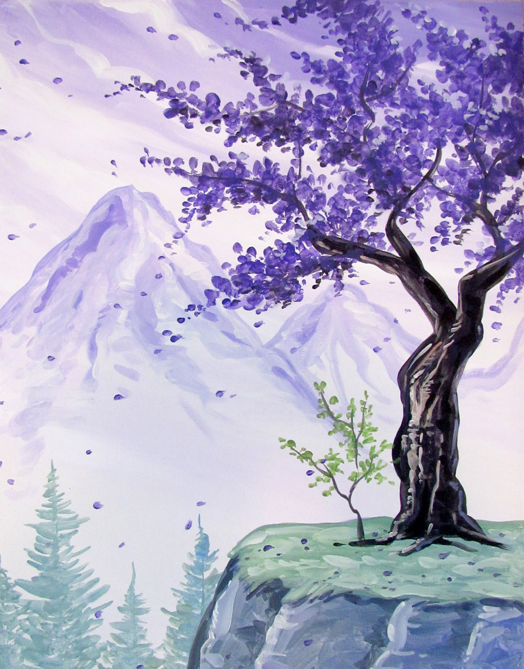 Orchid thai midtown sacramento 11 18 2017 paint nite event for Acrylic mural paint