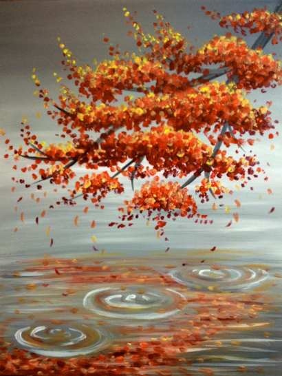 Learn To Paint Sugar Maple Reflection