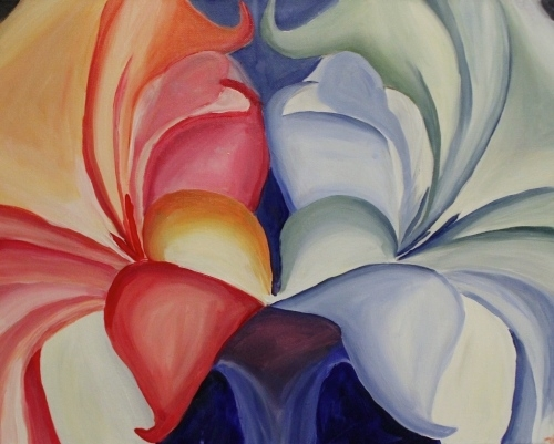 Paint Nite Flower Pictures