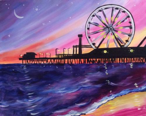 Santa Monica Pier Paint Nite Picture