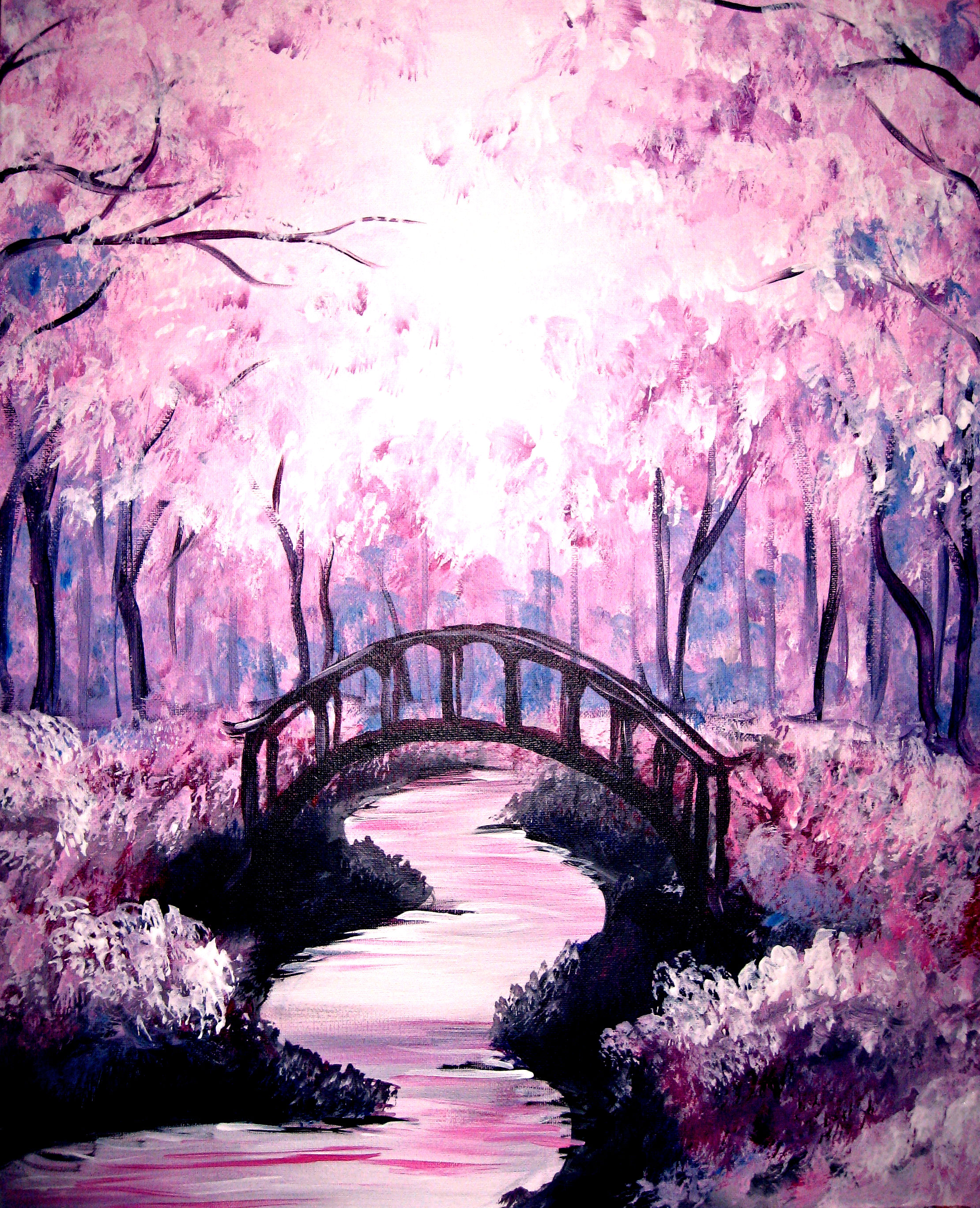 Napper tandy 39 s northport paint nite event Cherry blossom pictures