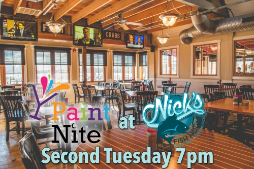 Nick 39 S Fish House Baltimore 04 12 2016 Paint Nite Event
