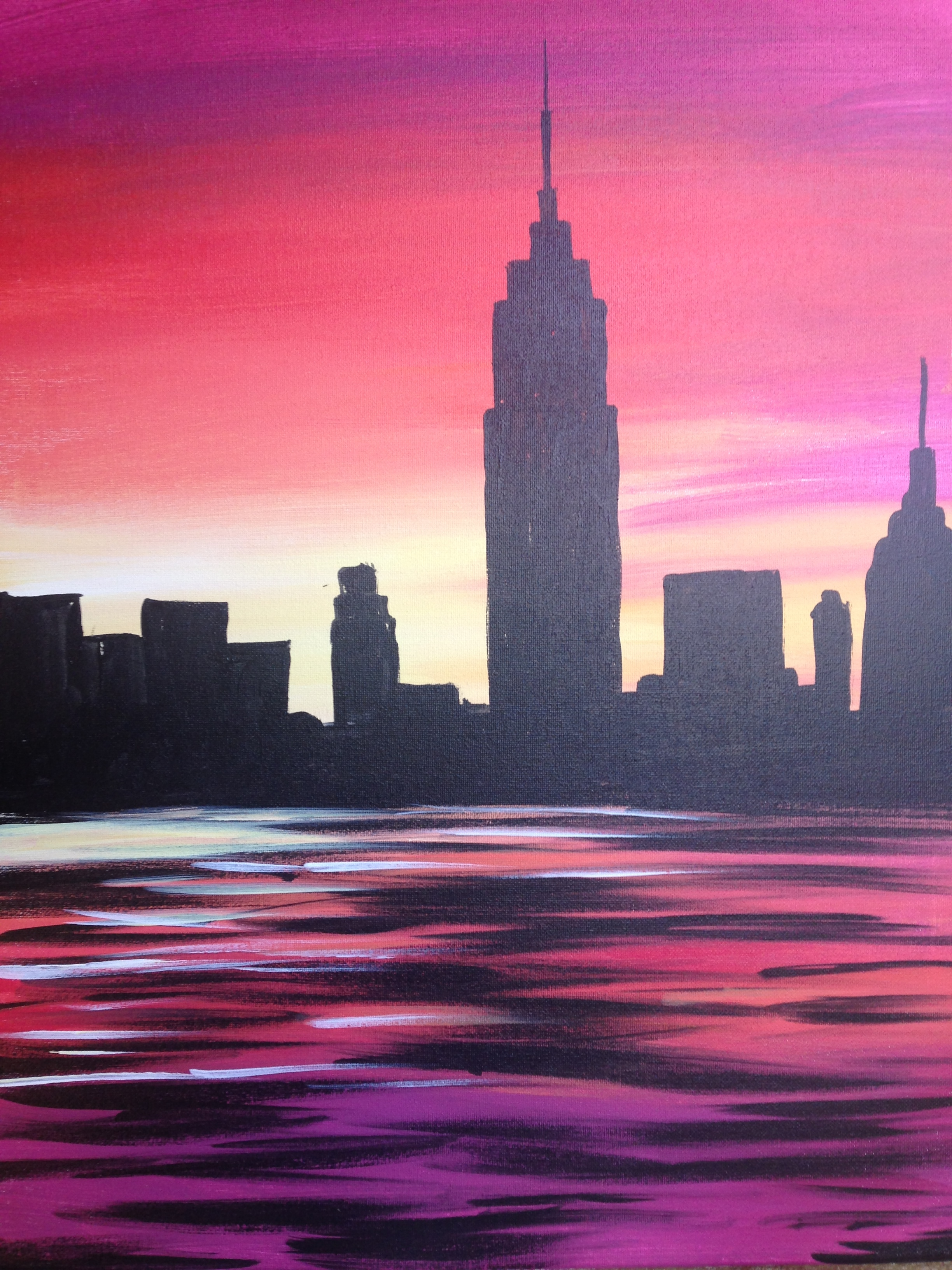 The bryant park lounge the residence inn times s paint nite event
