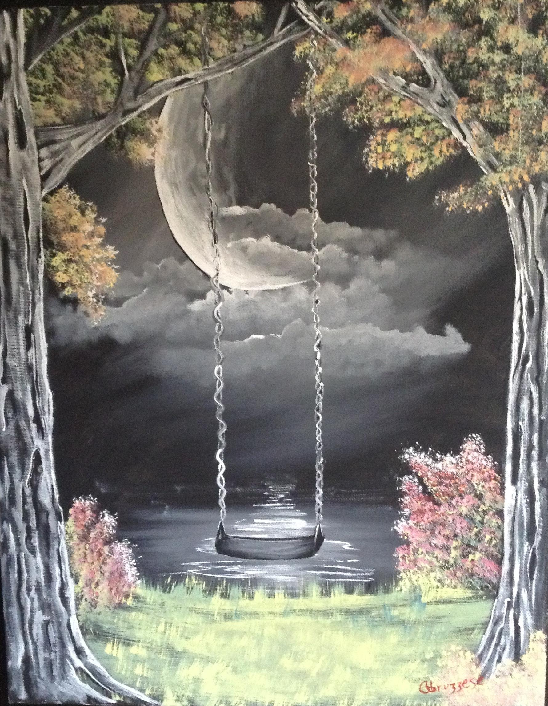 Learn To Paint Moon Light Swing