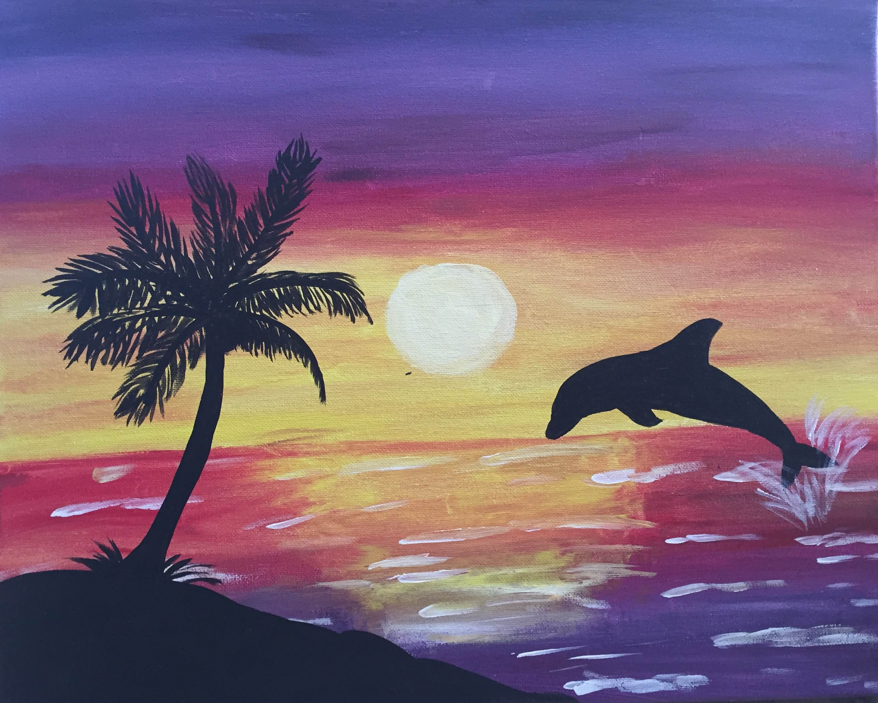 Для мальчиков, закат на море картинки как рисуется