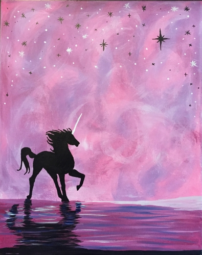Painting Ideas Easy Silhouette Unicorn