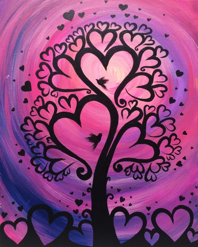 Learn To Paint Pink Tree Of Love