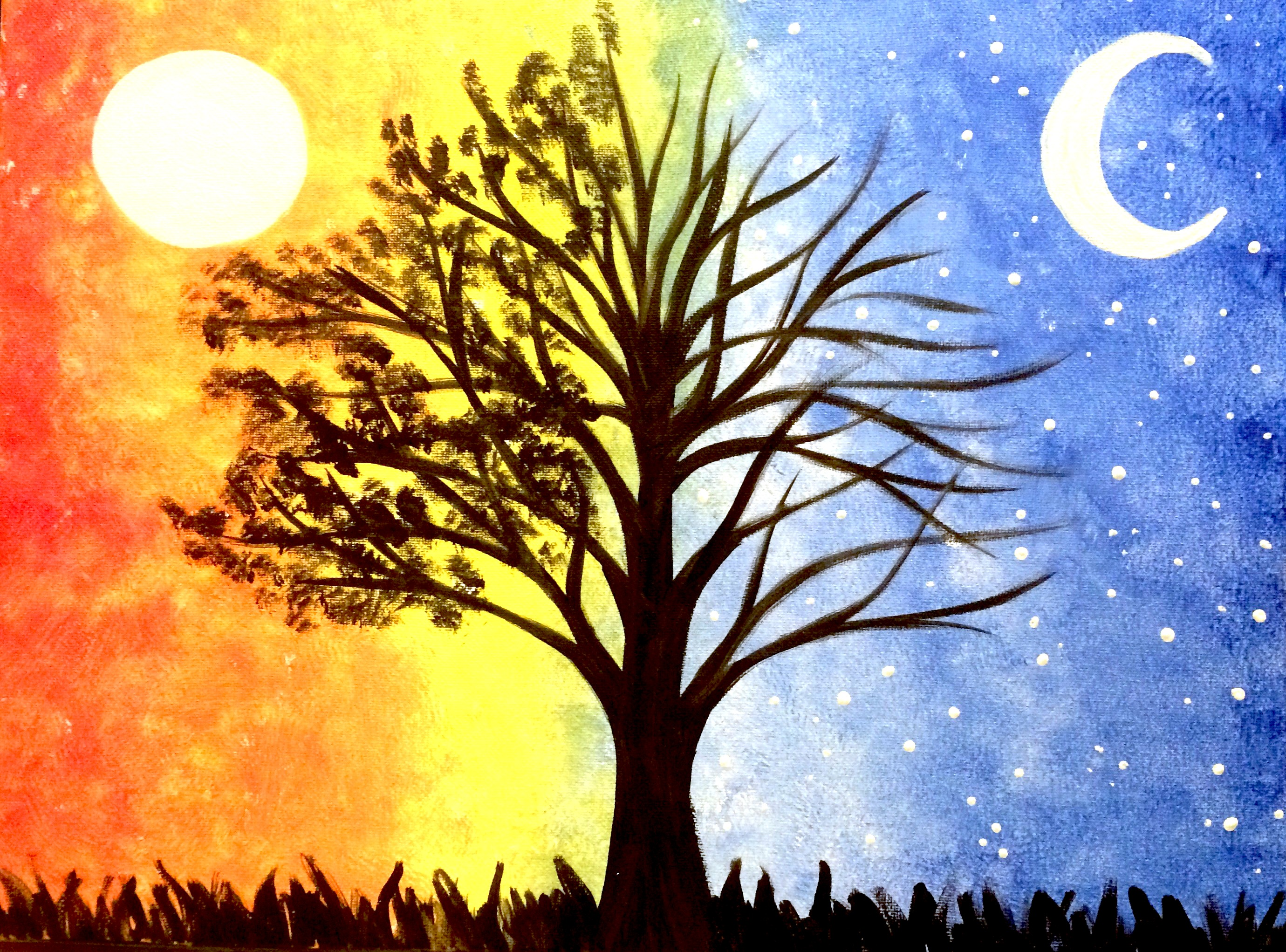 Moon And Tree Pictures To Paint