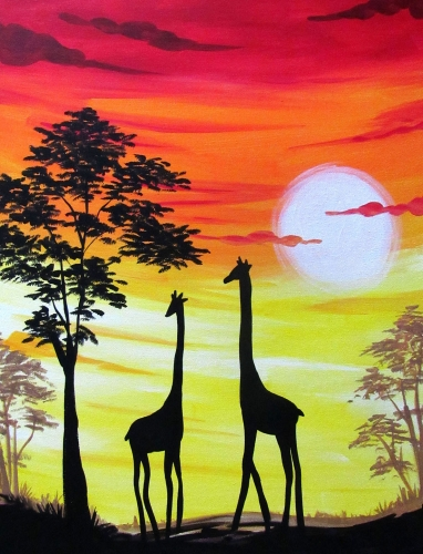 The Avenue (Glendale) #TeamBigApple 28/28/28 | Paint Nite Event | title | sunset painting