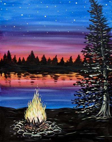 Applebee\\\\'s Brentwood 08/13/2017 at Applebee's ... Campfire Painting