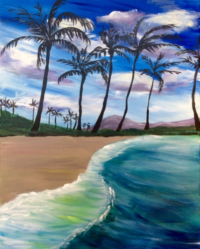 Find this painting - Island Dreams II At Wood Ranch BBQ & Grill At THE GROVE