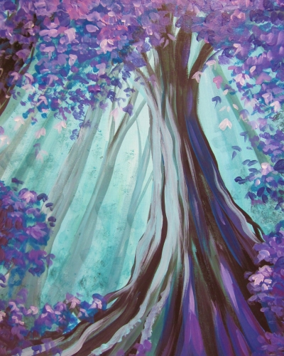 Find this painting & Mystical Forest Canopy | Paint Nite Event