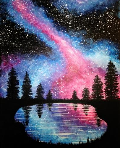 supernova galaxy paint nite event