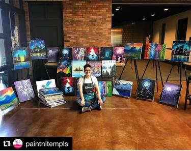 Yaymaker Host Rachel Gorlin #TeamPaintNite located in Minneapolis, MN
