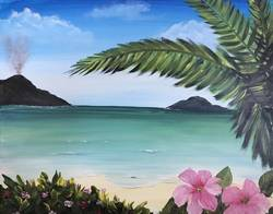 A Hawaii Nite paint nite project by Yaymaker