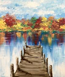 A Autumn at the Dock II paint nite project by Yaymaker
