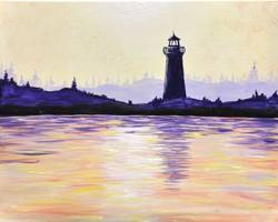 A Purple Haze Lighthouse paint nite project by Yaymaker