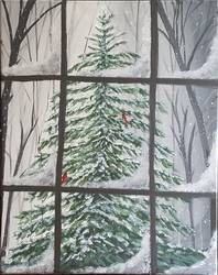 A Winters Window paint nite project by Yaymaker