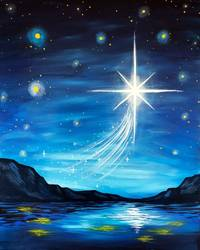 A To Wish On A Star paint nite project by Yaymaker