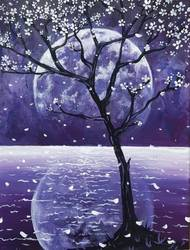 A Full Moon Reflection II paint nite project by Yaymaker