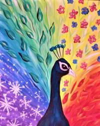 A Peacock for All Seasons paint nite project by Yaymaker