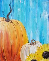 A Rustic Pumpkin Patch paint nite project by Yaymaker