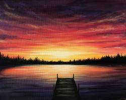A Quiet Evenings paint nite project by Yaymaker