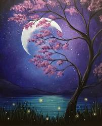 A Mystical Moonlight paint nite project by Yaymaker