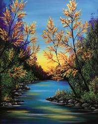 A Bright Autumn paint nite project by Yaymaker