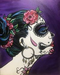 A Ms Calavera paint nite project by Yaymaker