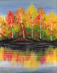 A Bright Autumn Birch paint nite project by Yaymaker