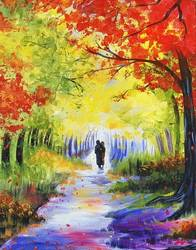 A Walk Through Autumn paint nite project by Yaymaker