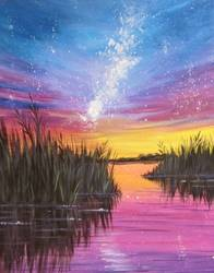 A Milky Way Marsh paint nite project by Yaymaker