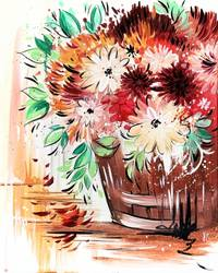 A Fall Flower Bouquet paint nite project by Yaymaker