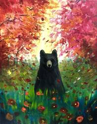 A A Fall Visitor paint nite project by Yaymaker