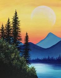 A Blue Mountain Summit paint nite project by Yaymaker