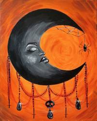 A Witchy Moon paint nite project by Yaymaker
