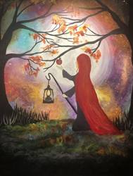 A Midnight Magic Apple paint nite project by Yaymaker