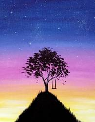 A Top Of The World paint nite project by Yaymaker