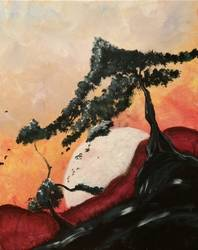 A Moonrise Bonsai paint nite project by Yaymaker
