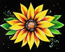 A Yellow Flower paint nite project by Yaymaker