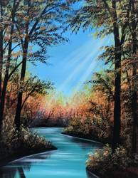 A Autumn Forest Light paint nite project by Yaymaker