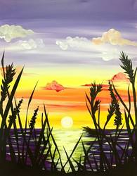 A Beach Sunset II paint nite project by Yaymaker