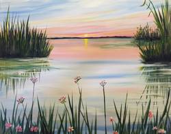 A Delta Sunrise paint nite project by Yaymaker