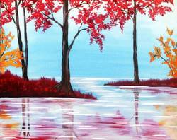 A Fall Lake paint nite project by Yaymaker