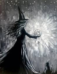 A Witchs Moonspell paint nite project by Yaymaker